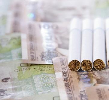 Cigarettes et argent