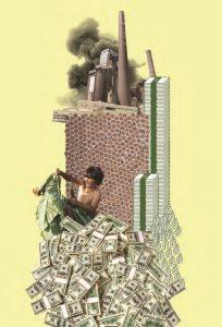 Même si elle crée des emplois, l'industrie du tabac coûte plus cher à la société qu'elle ne lui rapporte. C'est pourquoi les gouvernements doivent s'armer pour résister à son influence et ses arguments. (Image tirée de The Tobacco Atlas, 2015).