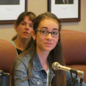 Le témoignage de Sophie-Rose Desgagné a beaucoup impressionné les membres de la Commission par sa conviction et son aplomb.