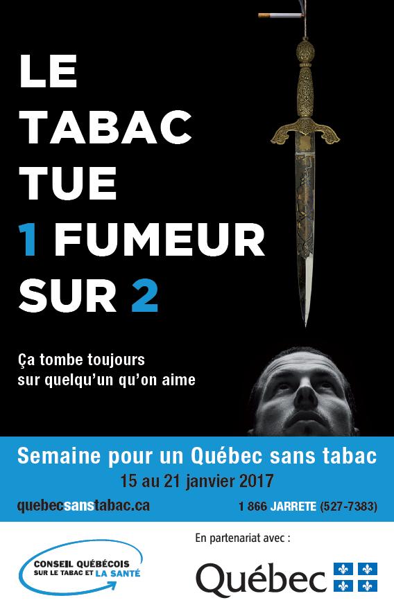 Info-tabac 118 semaine pour un Québec sans tabac SQST affiche
