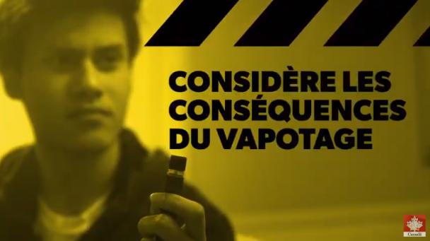 Vidéo Considère les conséquences du vapotage