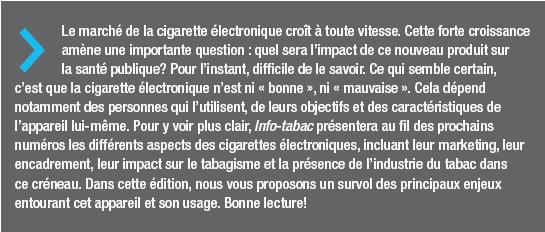Encadré cigarette électronique