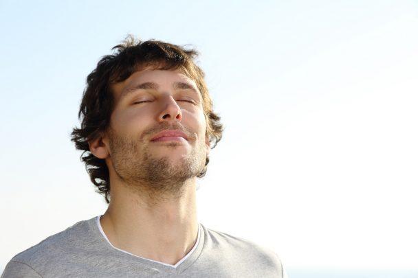 Homme qui respire