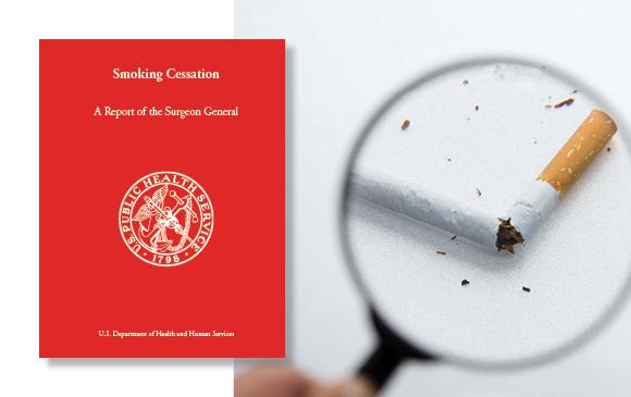 Rapport surgeon general et une loupe cigarette