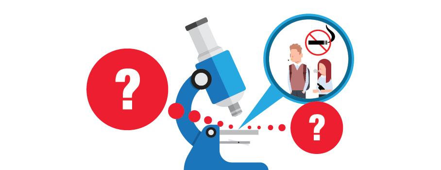 Microscope tabac et vapotage