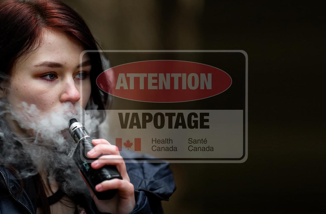 Jeune fille qui vapotage santé Canada