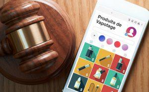 Publicité en ligne produits de vapotage devant la cour