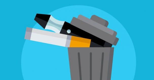 Tabac et vapotage dans la poubelle. Caisse de dépôt et de placement du Québec